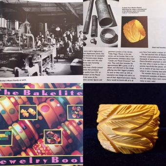 Giant Leaf Bangle - Featured in The Bakelite Jewelry Book