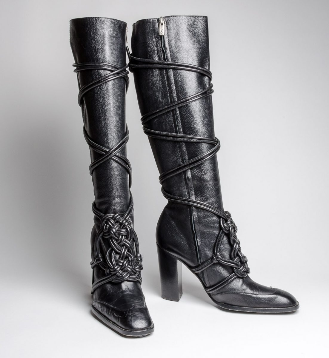 fcaf52bc5e3 YSL Leather Boots with Straps - Double Take of Santa Fe