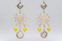equadorian coin earrings2