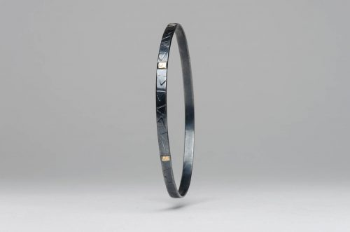 stephanie benson bangle oxidized gold2