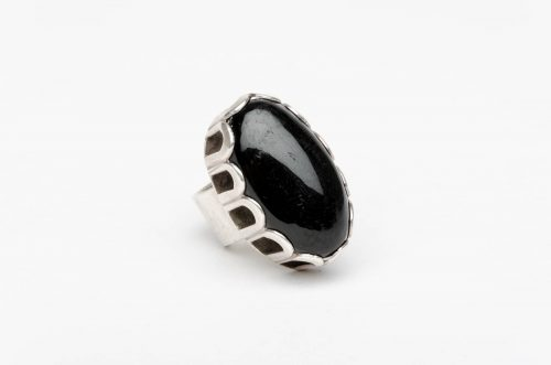onyx silver taxco mexico ring4