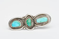 turquoise silver 3 stone ring1