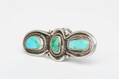turquoise silver 3 stone ring5