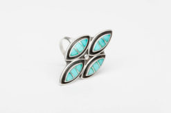 turquoise silver channel inlay ring4