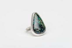 turquoise silver isaac coriz story ring2
