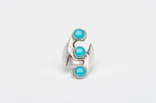 turquoise silver mexican ring1
