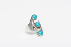 turquoise silver mexican ring2
