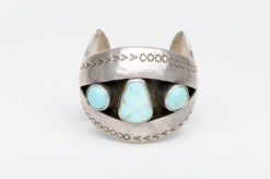 turquoise silver shadow box cuff2