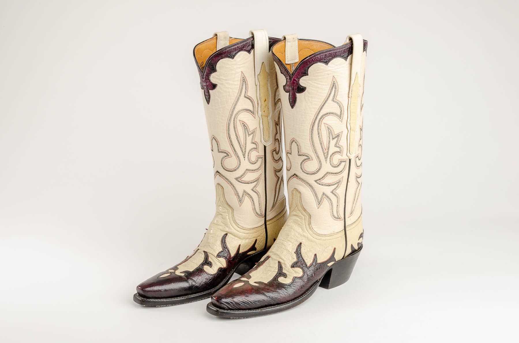 8750b55c4342 Lucchese Ostrich Boots - Double Take of Santa Fe