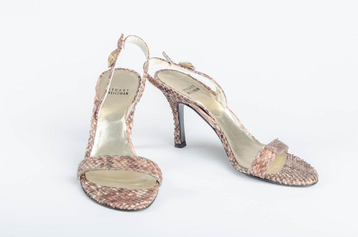 1221f10a39e0 Stuart Weitzman Snakeskin Sandals - Double Take of Santa Fe