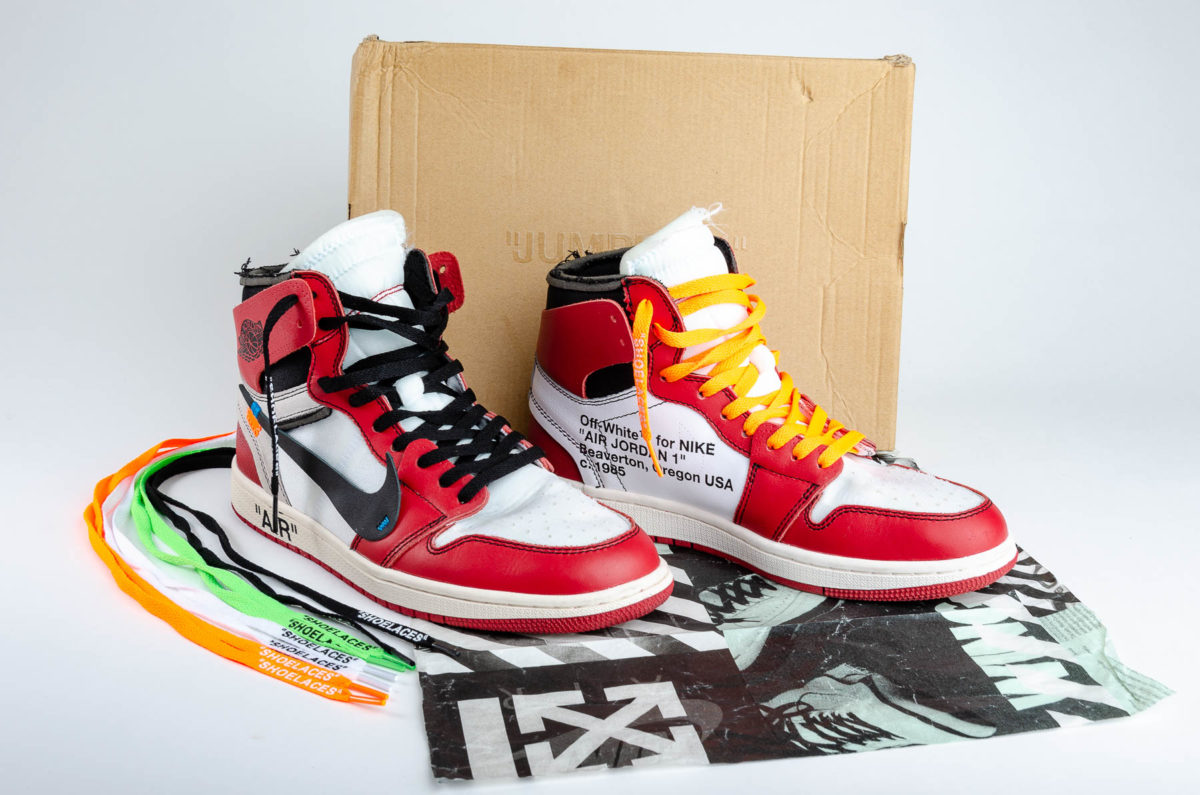 e1843039e1ec Off-White x Air Jordan 1 Retro High OG Sneakers - Double Take of ...
